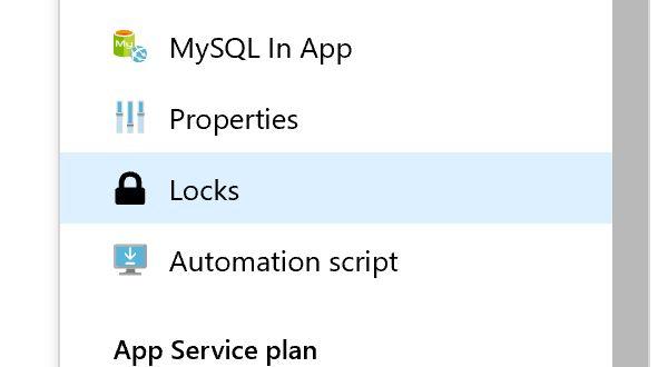 Why aren't you using Azure resource locks?
